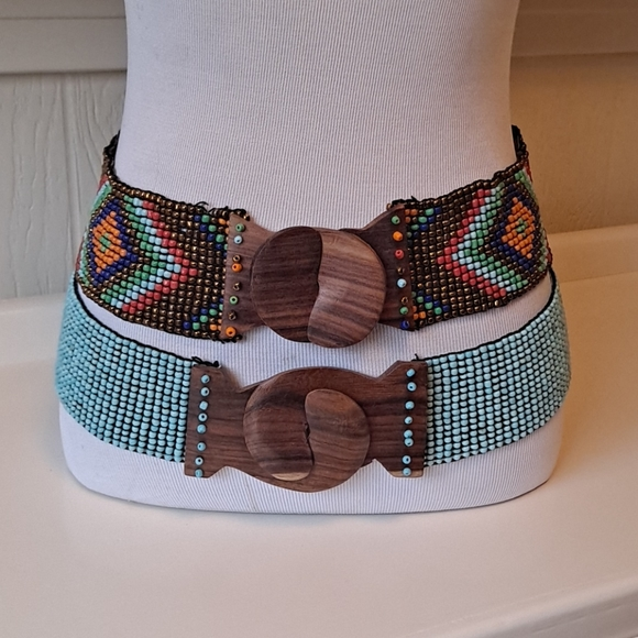 Two Beaded Stretchy Belts